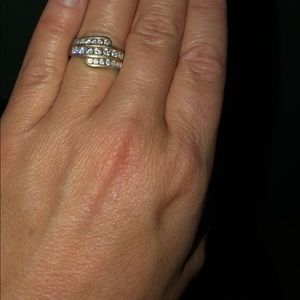 Gently Used QVC Diamonique Ring!